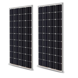 Zonnepaneel 100 W 200 W 18V 12V 24V Licht Gewicht Glas Temper Zonnepaneel Mono Kristallijn cellen Solar Battery Charger