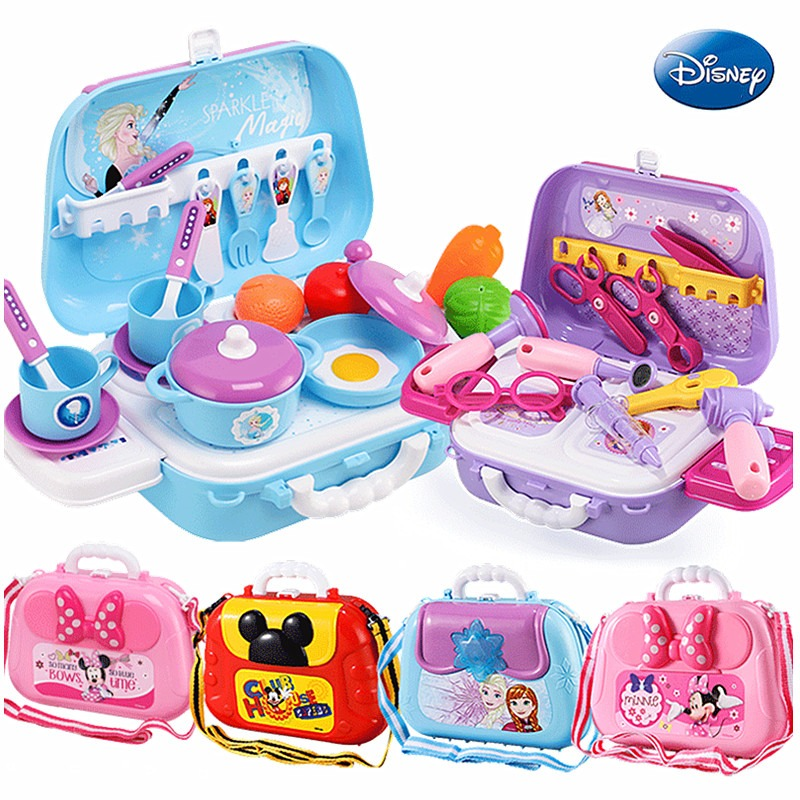 2020 Xmas Gift Disney Frozen Children Juguetes Backpack Tools Doctor Kitchen Set Pretend Play Toys For Girls Boys Birthday Gifts