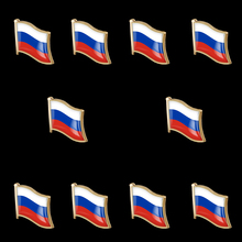 10 Pieces Russian Lapel Pin Safety Pins Brooches for Unisex Suit Tie Hat Scarf Badge DIY Costume Accessories