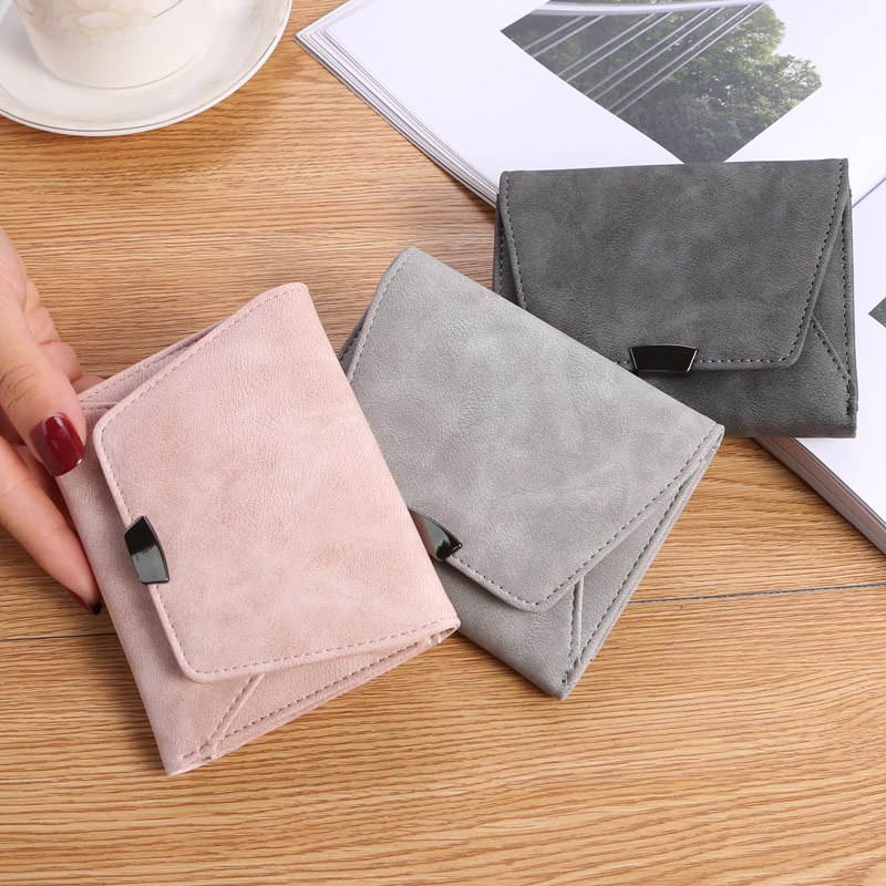 Wallet Female Short Women Wallets Small Fashion Brand Leather Purse Women Card Bag Mini Money Bag Wallet Card Coin Purse