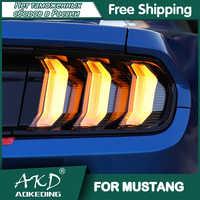 Para coche Ford Mustang 2015-2020 lámpara de cola Led luces de niebla DRL luz de día de cola accesorios de luces para coche