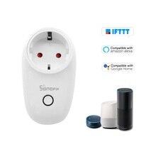 3 יח\חבילה Sonoff S26 WiFi חכם שקע TypeF האיחוד האירופי אלחוטי תקע שקעי חשמל חכם בית מתג עבור Alexa גוגל עוזר IFTTT