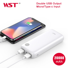 WST Power Bank 20000mAh Powerbank with Smart LED Digital Portable Charger Batterie Externe 20000 Battery