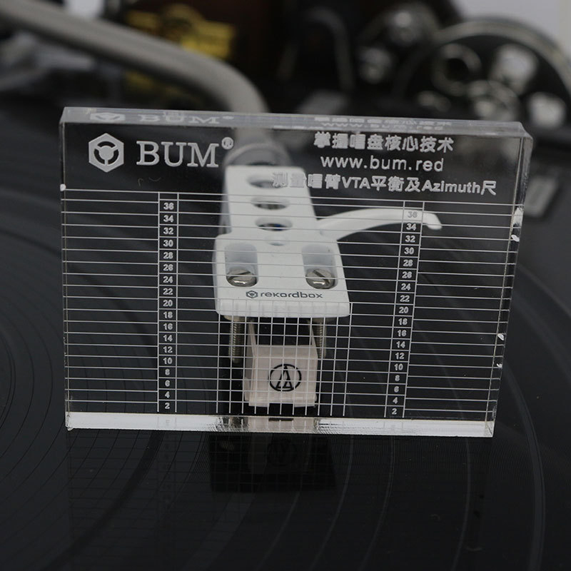 Record Player Measuring Phono Tonearm VTA/Cartridge Azimuth Ruler Balance Cartridge Azimuth Ruler Headshell Turntable