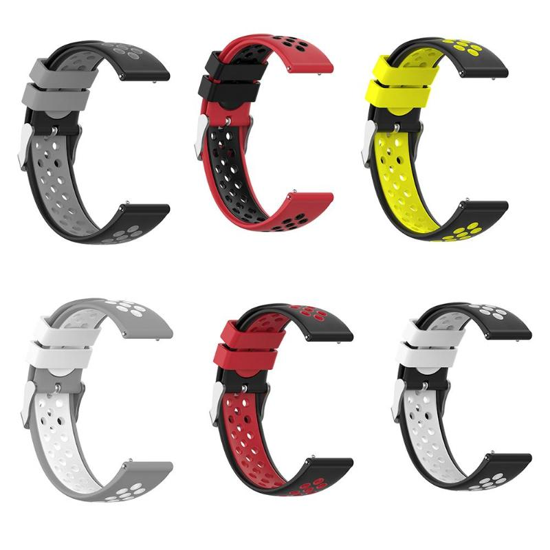 22mm Soft Silicone Wrist Strap Watchband With Buckle For Ticwatch Pro/E2/S2 Support Dropshipping