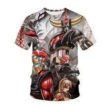 Anime Grendizer T-Shirts UFO Robot Goldorak 3D Print Streetwear Men Women Fashion T Shirt Kids Tees Tops Harajuku Boys Clothing
