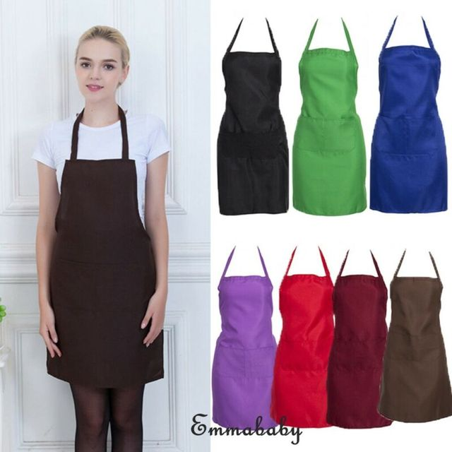 HOT Solid Functional Professional Anti-oil Plaid Bib Home Apron Available For Chef Cooks Butchers BBQ Cooking Kitchen Restaurant