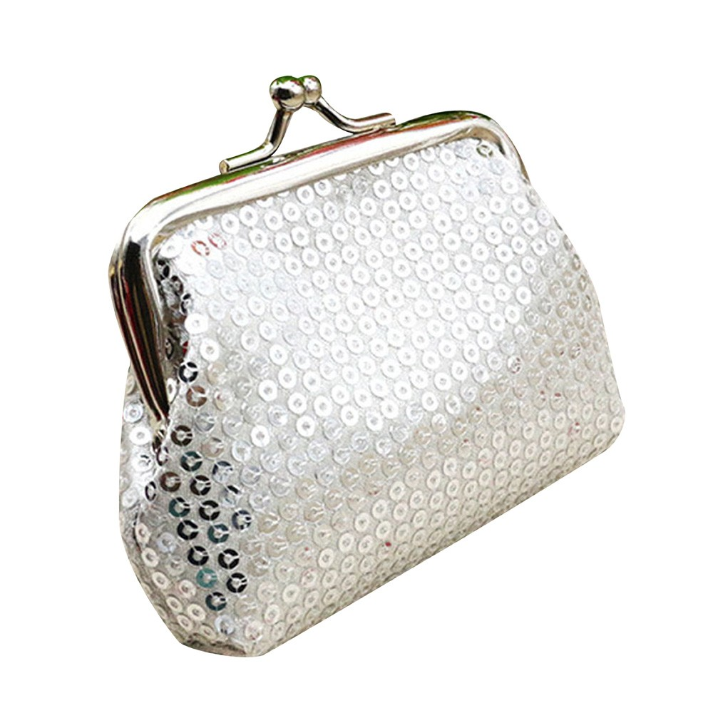 2019 Small Women'S Wallet Fashion Hasp Sequin Small Coin Purse Women Cute Card Key Mini Children Bag Unisex Card Holder Wallet