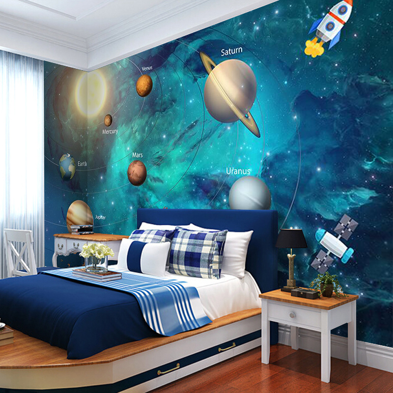 3D-Wallpaper-Space-Universe-Children-Room-Starry-Sky-Planet-Wallpaper-3D-Stereo-Cartoon-Mural-Papel-De (2)