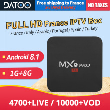 MX9Pro Android 8.1 France IPTV French Italy Portugal 1G+8G RK3228A Turkey Spain 1 Year IP TV