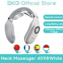 SKG – masseur intelligent pour le cou et les cervicales, avec télécommande, à impulsion électrique, soulagement de la douleur cervicale, longue durée de vie de la batterie