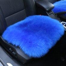 100% futro naturalne australijski kożuch pokrowce na siedzenia samochodowe, uniwersalne wełniane poduszki na siedzenia samochodowe, zimowe ciepłe pokrycie siedzenia samochodu