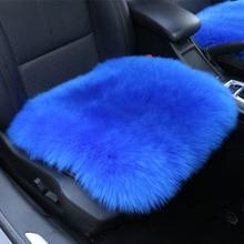 Housses de siège de voiture en peau de mouton australienne, couvre siège de voiture, universel, coussin, chaud pour lhiver, 100% de fourrure naturelle