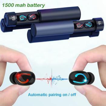 Auricular inalámbrico Q67 bluetooth 5,0 manos libres auricular deportivo con 1500 mah