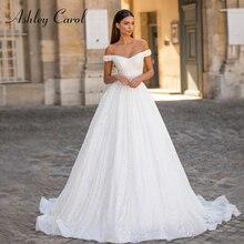 אשלי קרול נסיכת חתונה שמלת 2020 יוקרה חרוזים תחרה מתוקה עם גלימה להסרה אונליין כלה שמלת Vestido דה Noiva