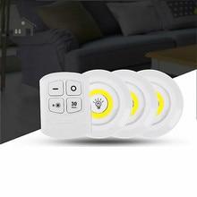 3 Вт Cob под шкаф светильник светодиодный беспроводной светильник для спальни с пультом дистанционного управления затемненный шкаф ночник для общежития шкаф