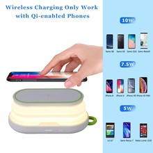 2 in 1 Wireless Charger Power Bank 5000mAh Qi Fast Type-C Powerbank Charging Station Stand For iPhone SamSung
