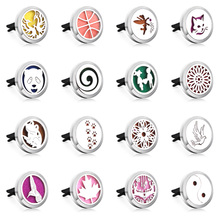 Car Perfume Diffuser Clip 316L Stainless Steel 30mm Locket Pendant Essential Oil Air Freshener Hanging