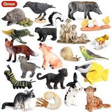 Toys Action-Figure Miniature Bird-Animals Small Oenux PVC Model Farm Frog Snails Fox