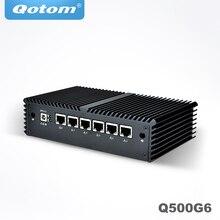 Qotom Pfsense AES NI 미니 PC 코어 i3 i5 i7 프로세서, 6 개의 인텔 기가비트 닉스, 직렬, 팬리스 미니 PC PFSense