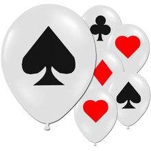 10pcs Poker Spade Heart club Diamond JOKER Latex Balloons Bar Bachelorette Birthday Party Decoration Balloon Playing Game Ballon