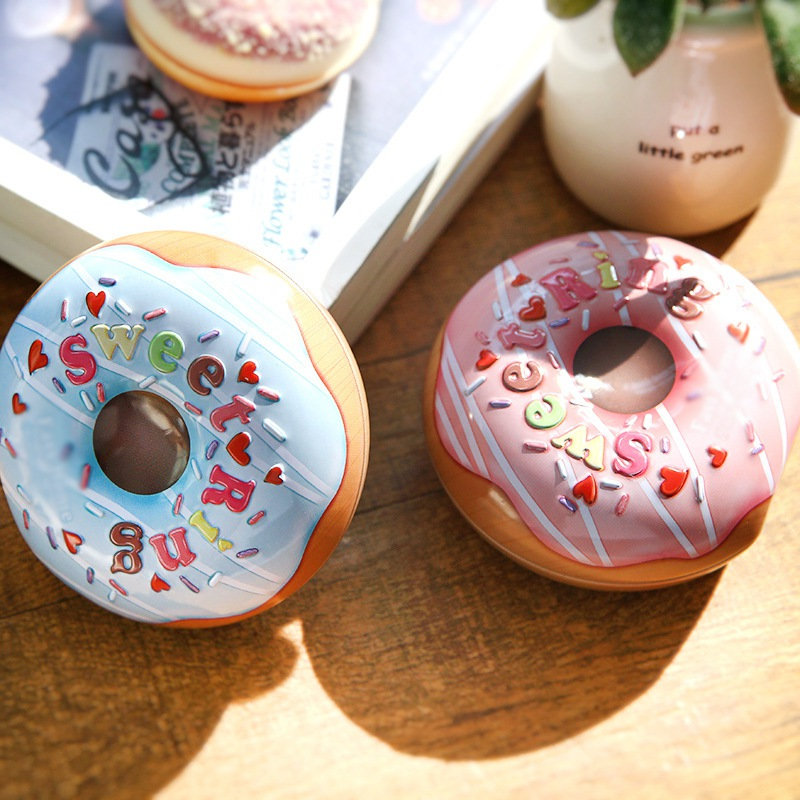 2019 Ultra-realistic Donut Tin Box Jewelry Candy Gift Box Small Sundries Storage Boxes Cans Coin Earrings Headphones Gift Box