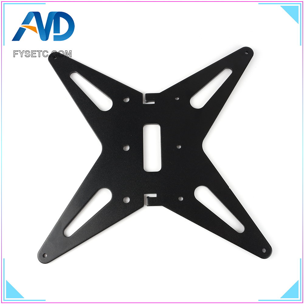 Black Upgrade CR-10 CR-10S Hotbed Support Y Carriage Anodized Aluminum Plate 4mm Thickness For 300X300X400 Creality CR10 BLV