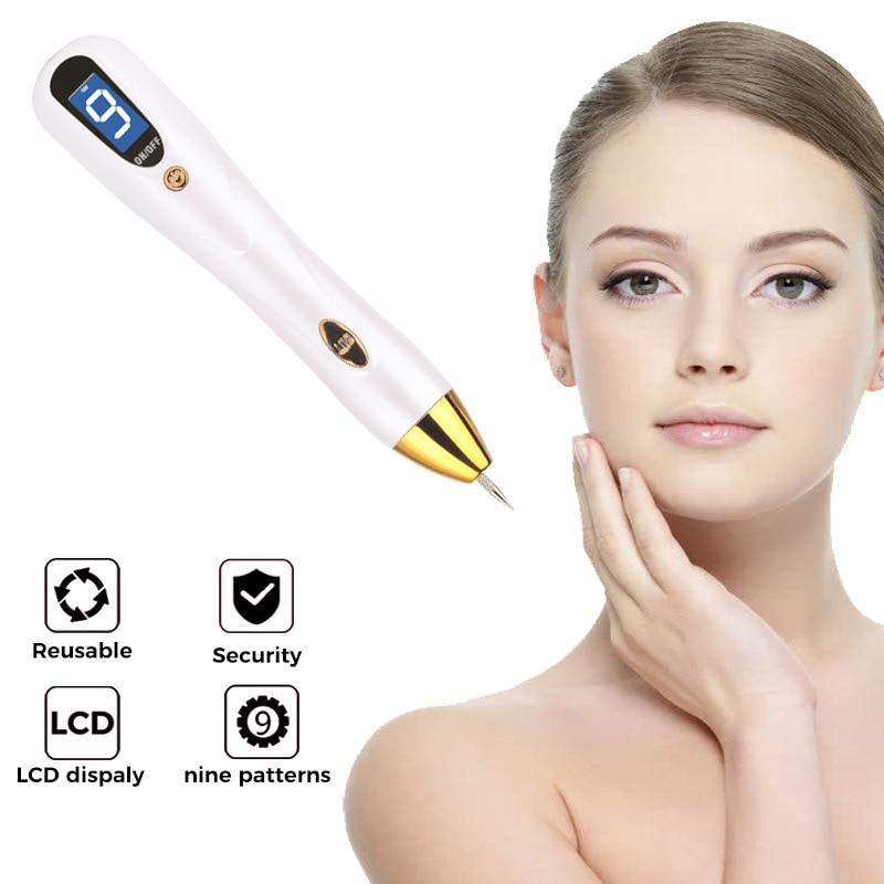 Remo o de toupeira mancha escura caneta lcd cuidados com a pele ponto caneta plasma laser