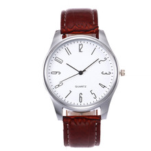 Men's Quartz Watch Simple style Business men's Fashion Leath