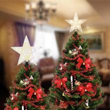 Светодиодный светильник на рождественскую елку, украшение в виде звезды, светодиодный светильник на батарейках для украшения рождественских деревьев, новогодний декор