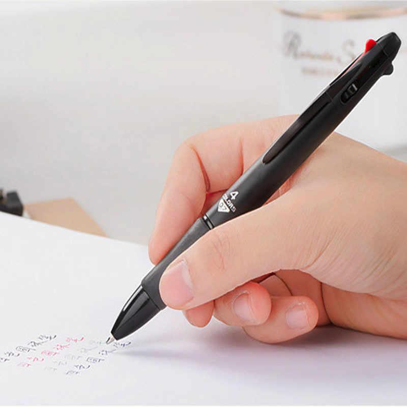 מכירה לוהטת 4 ב 1 לערבב צבע מותג כדורי עטי 0.7mm רב תכליתי אספקת צבעוני חלק מכתבים כתיבת בחינת עט