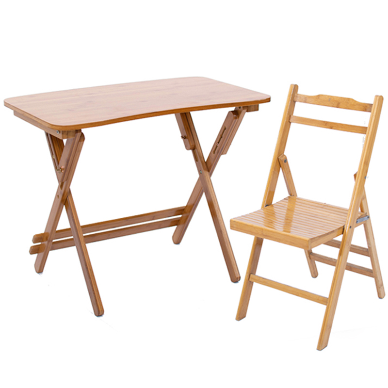 Bamboo Writing Desk Solid Wood Home Desk Desk Folding Children's Learning Desk Lifting Tables And Chairs