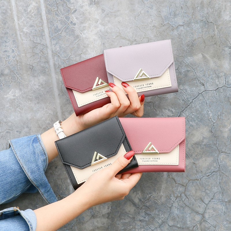 Women Wallet Cute Short Mini Wallets Lady Zipper Leather Purses Portefeuille Female Purse Clutch Card Holder Coin Bag
