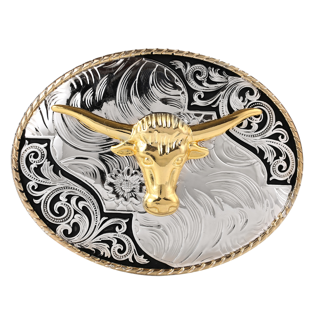 Gold Cow Head Buckle Retro Style OX Head Belt Buckle Biker Indian Western Cowboy Belt Accessories пряжка для ремня