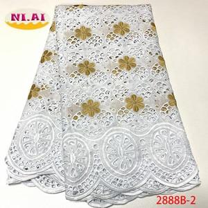 Image 2 - Африканская Хлопковая кружевная ткань NIAI 2020, Высококачественная швейцарская вуаль, кружево в Швейцарии, швейцарская вуаль с вышивкой, кружевная ткань