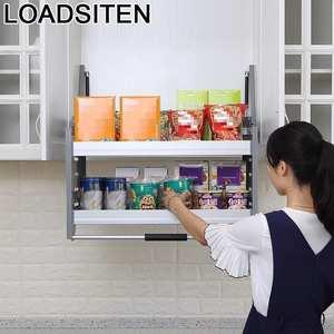 Cabinet-Basket Pantry-Organizer Cupboard Storage Cuisine Kitchen Hanging Cozinha Armario