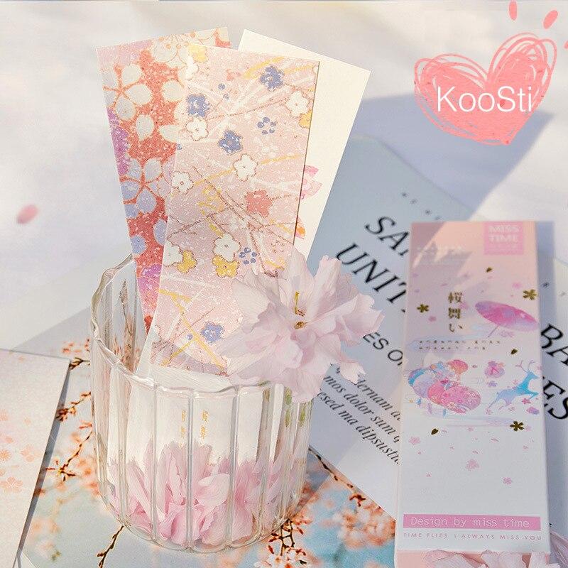 30PCS/Set Flower Kawaii Cute Sakura Bookmarks Cherry Blossom Stationery Bookmarks for Books Paper Book Mark Lot Teacher Gifts| | - AliExpress