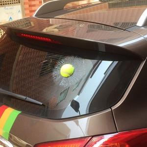 Image 3 - 3D Auto Aufkleber Auto Ball Hit Körper Fenster Aufkleber Self Adhesive Aufkleber