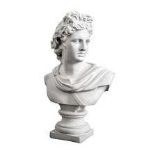 30 CM 2 3 kg duże Apollo popiersie Adelos mitologia grecka rękodzieło z żywicy biuro Hotel salon dekoracji prezent tanie tanio sunchamo Europa Ludzi Żywica