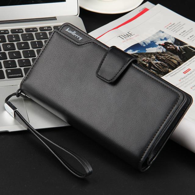 Men Long Wallet Clutch Bag Credit Card Holder Purses Carteira Masculina Carteras Billetera Hombre Leather Money Portfe Carte 6