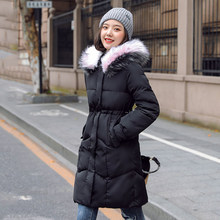 2020 Women Winter Long Parka Slim Warm Thicken Female Jackets Hooded False Fur Collar Plus Size Casual Womens Coat Overcoat(China)