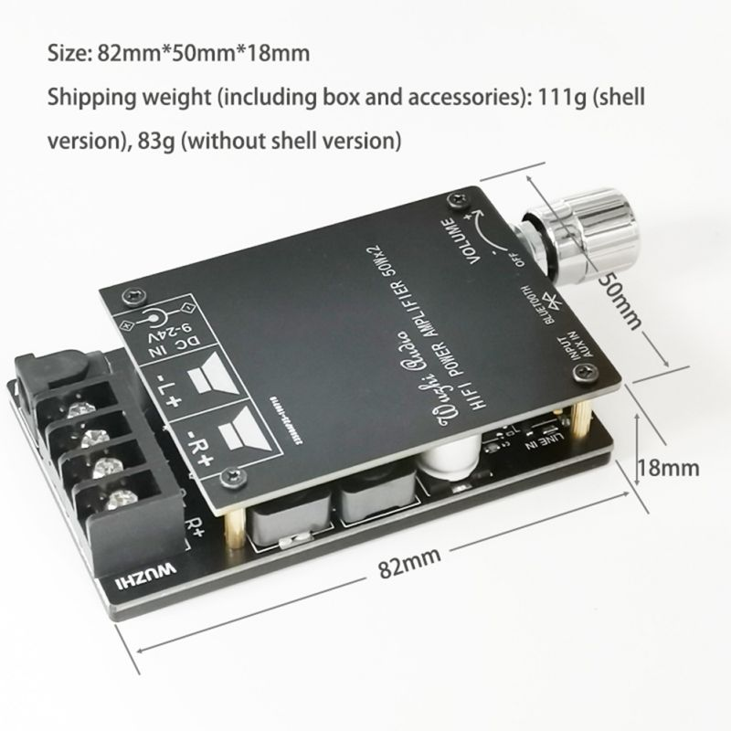 HIFI Wireless Bluetooth 5.0 TPA3116 Digital Power Audio <font><b>Amplifier</b></font> <font><b>board</b></font> TPA3116D2 50WX2 Stereo AMP Amplificador Home Theater image