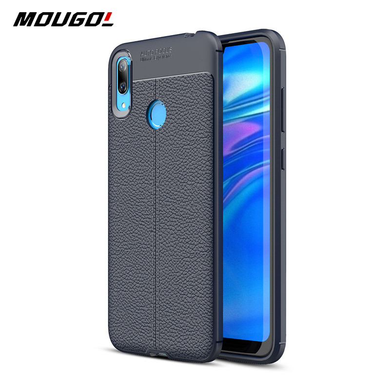 For <font><b>Huawei</b></font> <font><b>Y7</b></font> <font><b>2019</b></font> Phone <font><b>Case</b></font> Shockproof <font><b>Case</b></font> <font><b>Cover</b></font> Luxury Leather Style Silicone Styple Bumper Soft TPU Phone <font><b>Case</b></font> For <font><b>Y7</b></font> <font><b>2019</b></font> image