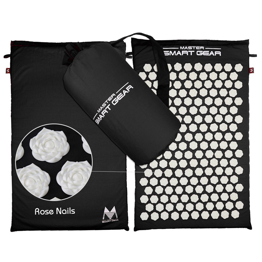 Stress Relieving Acupressure Massage Mat with Pillow Set for Exercise to Release Back Neck and Sciatic Pain 4