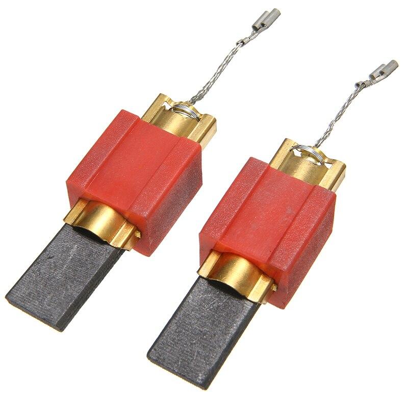 2 piezas de repuesto de carbón + cepillos de Metal para accesorios de lavadora Miele 4297410/4297411/4297412/4297413 herramientas