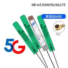 2PCS PCB antenna GSM/2G/3G/4G/5G internal NB-IOT IPEX U.FL Full band High gain 8dbi For EC25 EC20 SIM7000 SIM7100 SIM7600E
