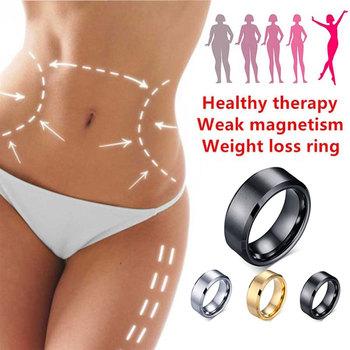 Magnetyczny medyczny magnetyczny pierścień odchudzający odchudzanie narzędzia Fitness zmniejsz wagę pierścień sznurkowy stymulujący Acupoints kamień żółciowy tanie i dobre opinie Hmeily Pierścień magnetyczny toe Utrata masy ciała kremy Slimming Ring black gold silver Stainless steel Weight Loss Ring