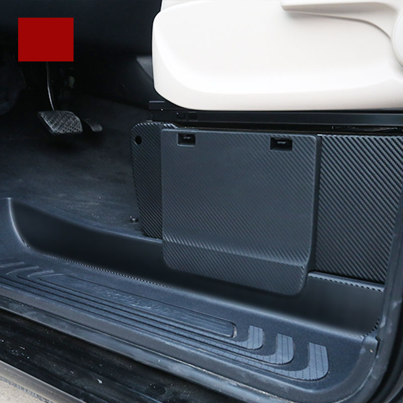 Lsrtw2017 Carbon Fiber Car Seat Anti-kick Film For Mercedes Benz Vito 2014 2015 2016 2017 2018 2019 W447