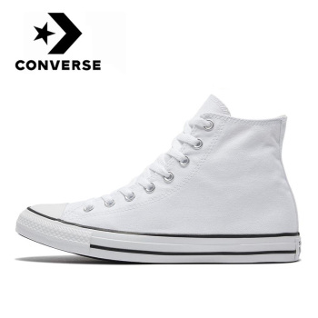 Original Converse Chuck Classic All Star men and women unisex Skateboarding sneakers Daily Leisure Light White flat canvas Shoes stylish skateboarding shoes unisex classic white shoes men women leisure waterproof air cushion skateboard shoes flat sneakers