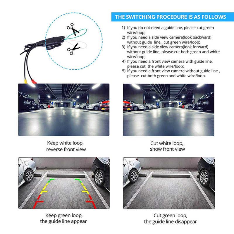 Yuanting รถด้านหน้าด้านหลังย้อนกลับ/ไปข้างหน้ากล้องกันน้ำ HD ระยะทาง Scale Lines สำหรับ Auto ระบบเซ็นเซอร์ที่จอดรถ